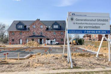 Generationshof GRABBE Tolle 1 Zimmer Neubau-Wohnung zur Miete in TOP-Lage von Quickborn