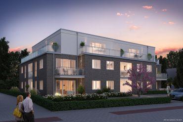 Neubau! Exklusive 2 Zimmer-Wohnung mit TG-Stellplatz in Norderstedt Mitte zu vermieten