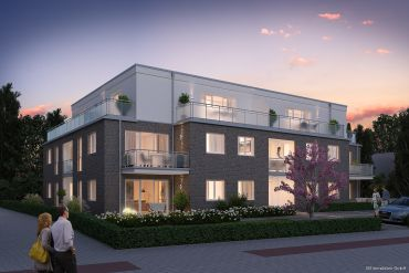 Neubau! Exklusive 3 Zimmer-Staffelgeschoss- Wohnung mit TG-Platz in Norderstedt Mitte  zu vermieten